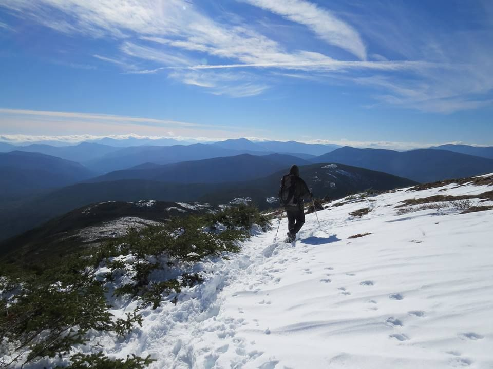Picture I took a couple years ago of my buddy hiking down Eisenhower in the White Mountains #hiking #camping #outdoors #nature #travel #backpacking #adventure #marmot #outdoor #mountains #photography