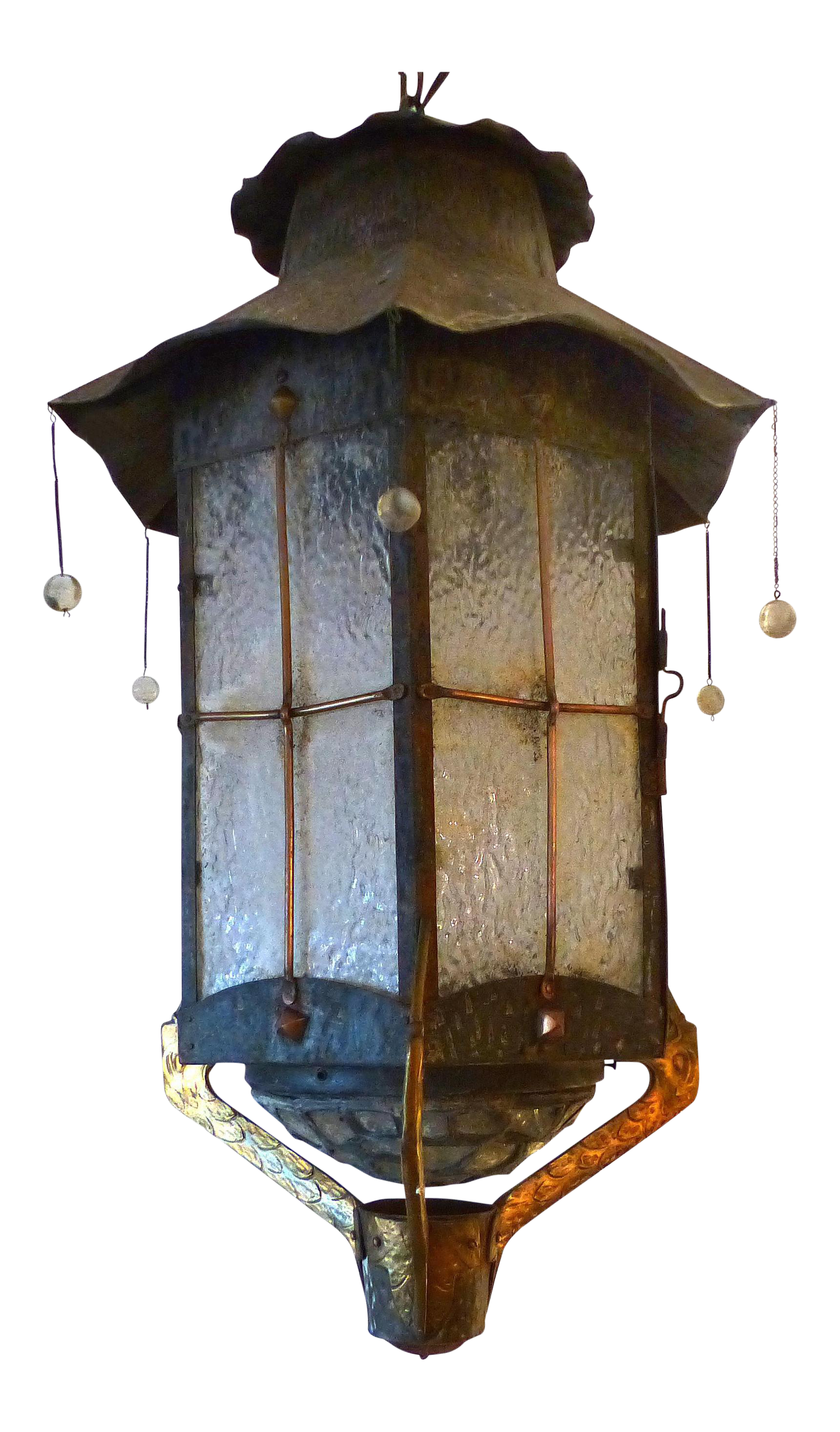Vintage Japanese Motif Lantern With Cranes
