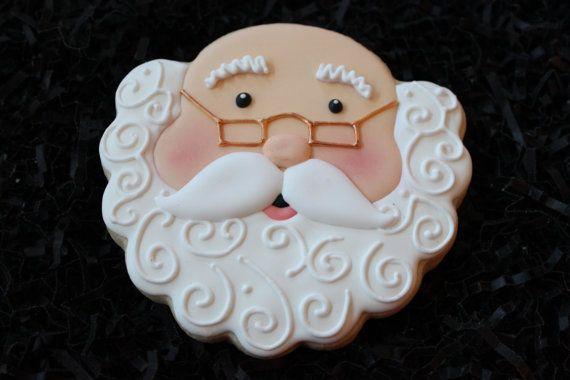Santa Claus Cookies, Santa Cookies, Santa Claus, teacher chritmas gifts, Christmas Cookies, Custom Cookies, Christmas Favors