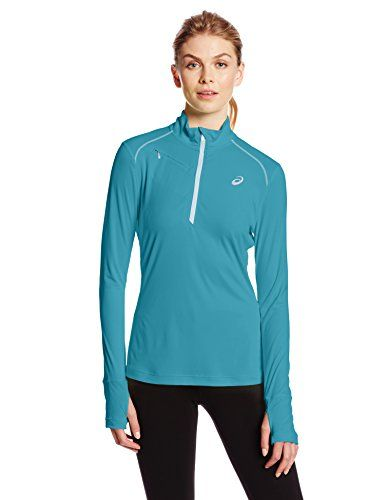 Asics Womens Favorite 12 Zip Top Bondi BlueCrystal Small *** For more information, visit image link.Note:It is affiliate link to Amazon.