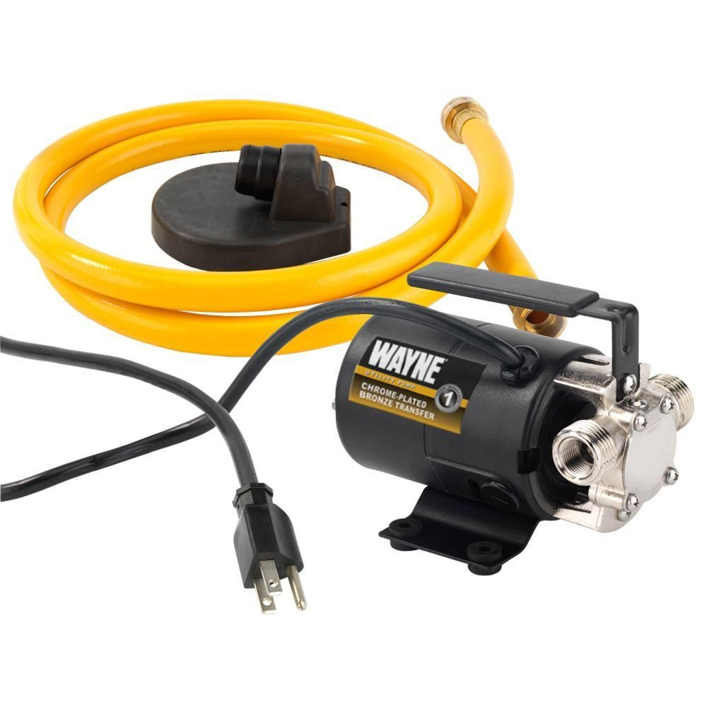 Wayne 1 10 Hp Portable Transfer Utility Pump Pc2 Suction Hose Utility Pumps Water Pumps
