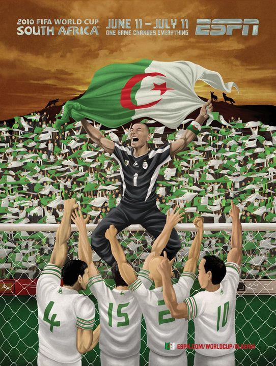 Espn Coupe Du Monde Afrique Du Sud 2010 Algerie Algerie Foot Coupe Du Monde Drapeau Algerie