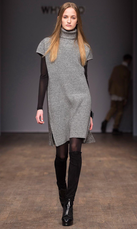 Capulet Long Sleeve Turtleneck Sweater Dress in Black Rib ...