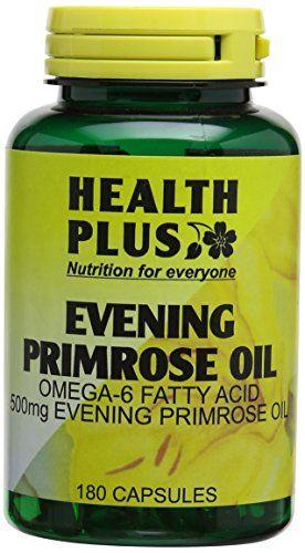 Health Plus Evening Primrose Oil 500mg Omega-6 Supplement ...