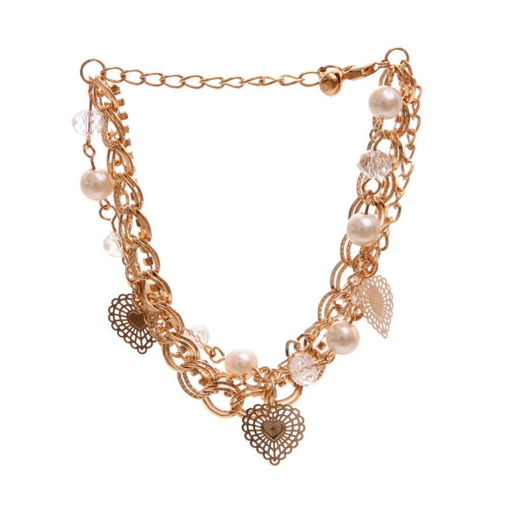 Multilayer k gold plated fashion bracelets for women austrian