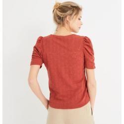 Photo of Promod T-Shirt mit Lochmuster Promod