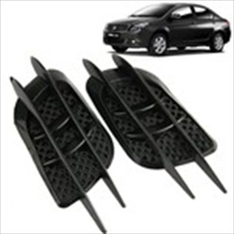 PCS Full Black Plastic Auto Car Side Vent Air Flow Fender - Plastic stickers for cars