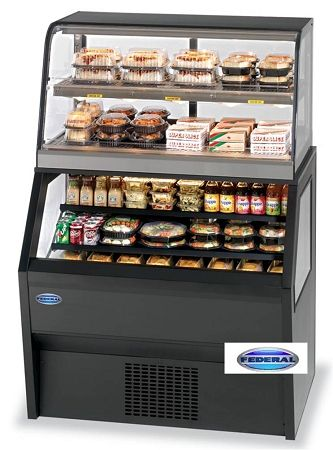 hot and cold deli cases | hybrid merchandiser hot cold case federal hybrid merchandiser hot cold ...