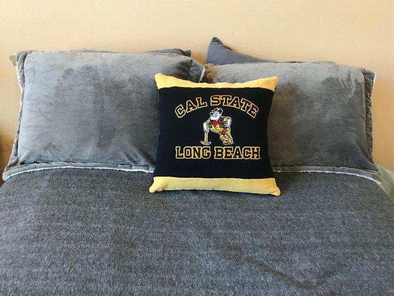 Cal State Long Beach Up Cycled Sweatshirt Pillow Dorm Decor