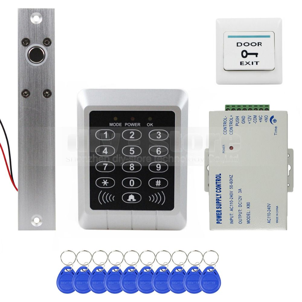 125KHz 12V Door RFID ID Card Password Access Machine Controller with Keypad