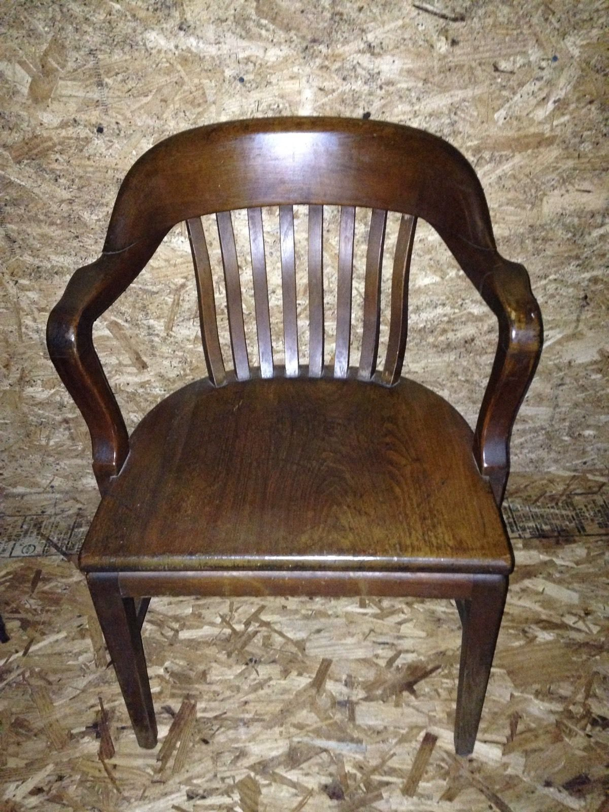 Globe Wernicke Antique Banker Lawyers Jury Arm Chair Desk