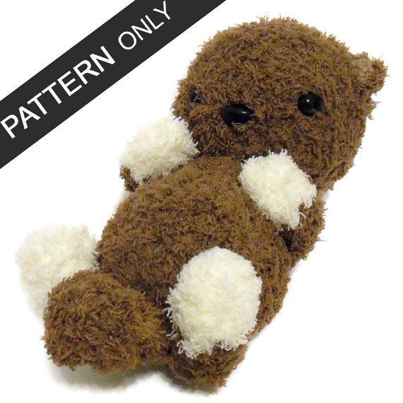 Free Crochet Otter Pattern - thefriendlyredfox.com   570x570
