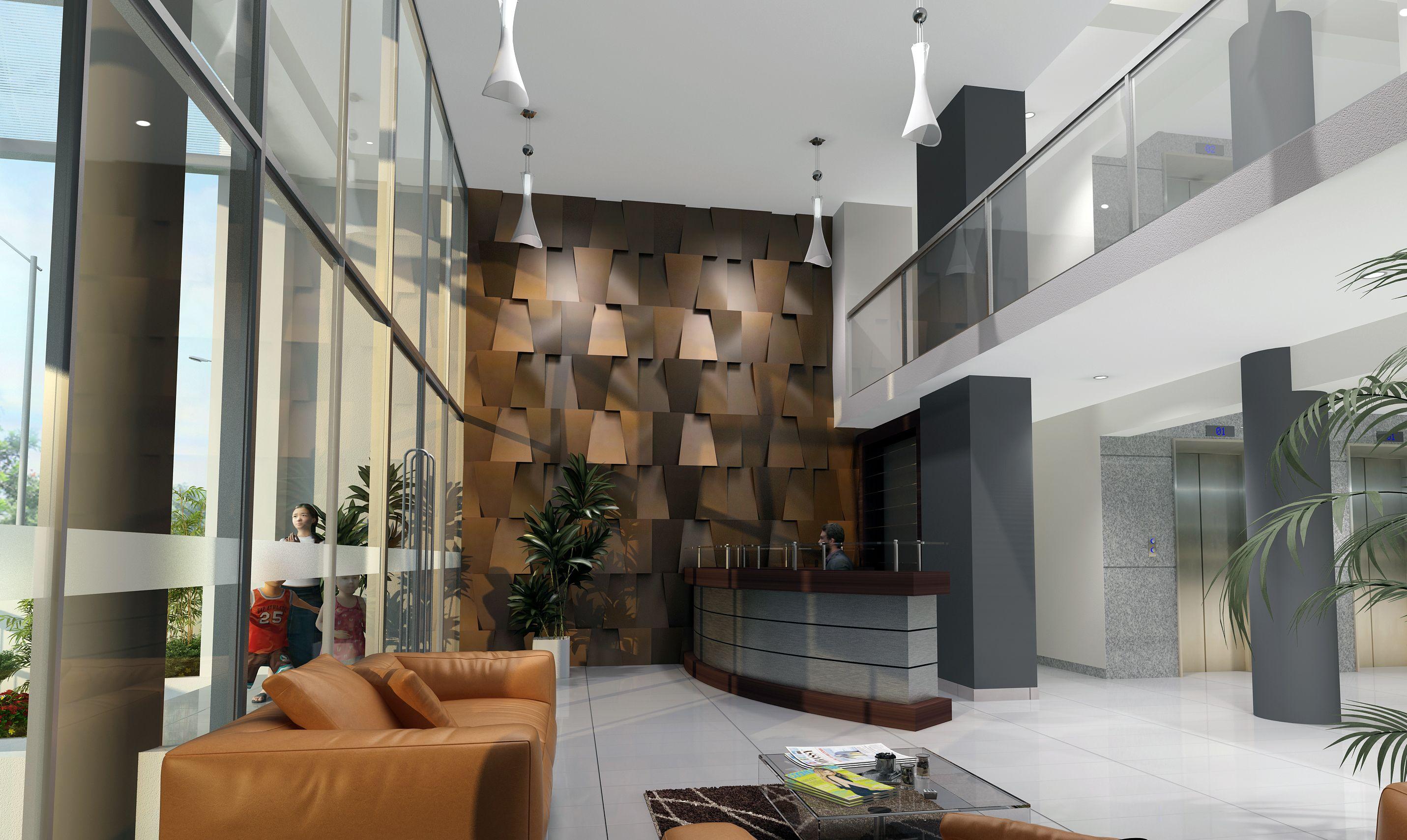 Revestimientos modernos para paredes doble altura buscar - Revestimientos de paredes ...