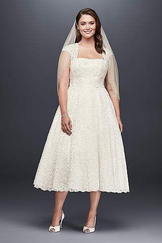 vestido de novia curvy con bolero y largo tipo midi | matrimonio