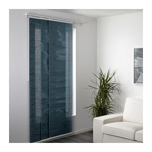 Ikea Fonsterviva Blue Gray Panel Curtain Details