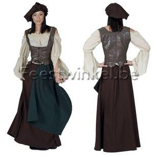 Kostuums: Middeleeuwse Breughel dame