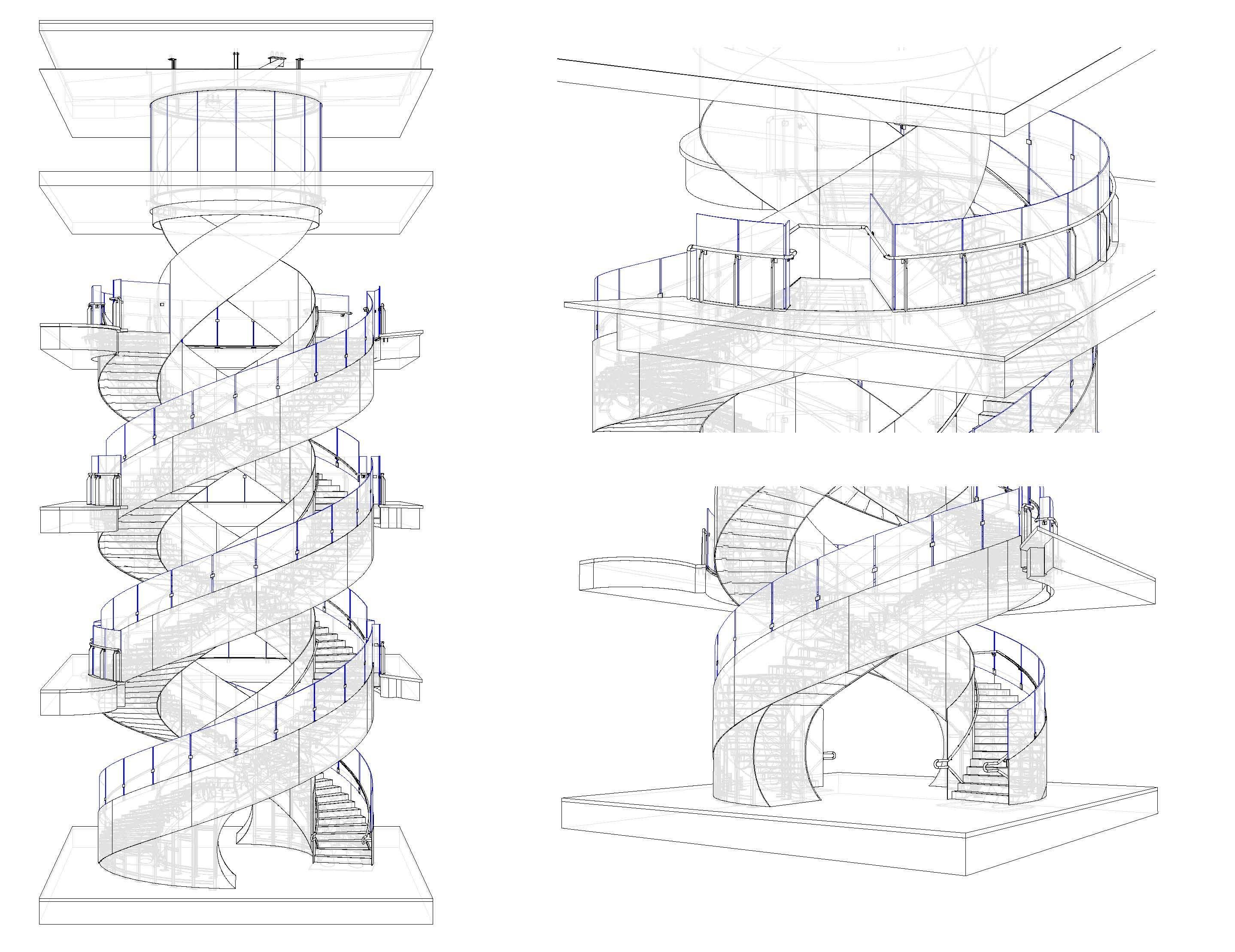 Active Progress Uts Central Double Helix Staircase Active