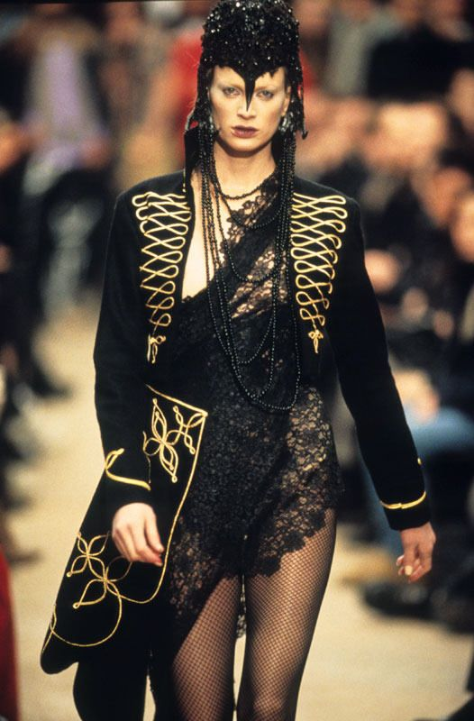 bbd057d90354 Alexander McQueen (British, 1969–2010) Coat Dante, autumn winter 1996–97  Black wool felt embroidered with gold bullion cord From the collection of  Isabella ...