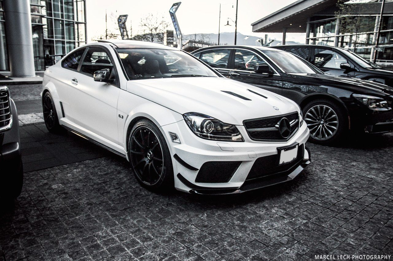 matte white c63 amg black series monster cars cars. Black Bedroom Furniture Sets. Home Design Ideas