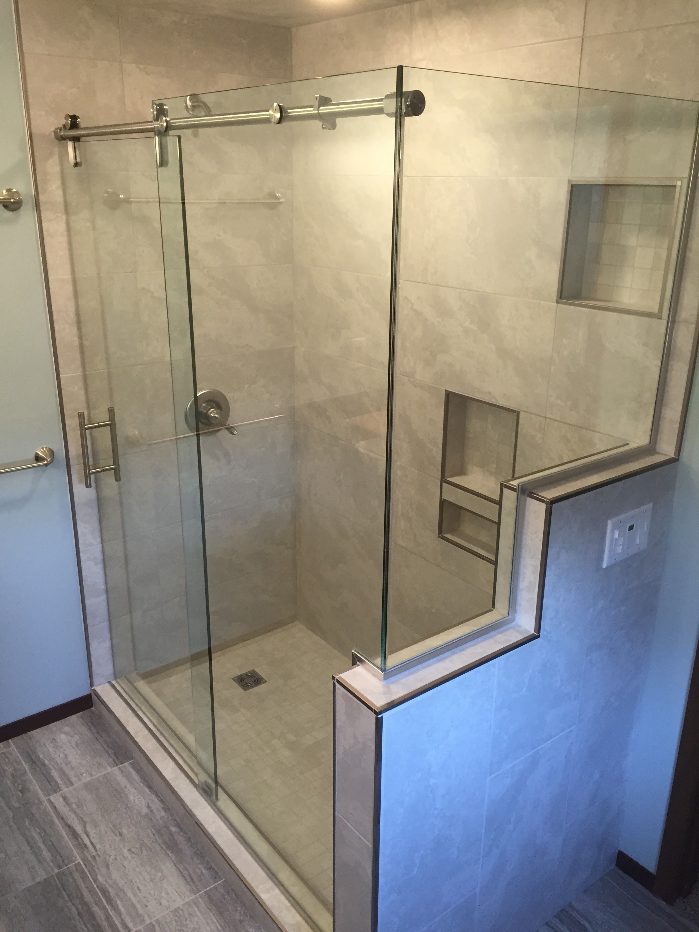 image shower sliding frameless charter home of doors classy ideas