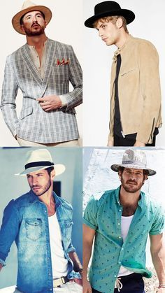 Men s Spring Summer Statement Look Pull Off Guide  Wide Brim Summer Hats  Outfit Inspiration Lookbook 4d1da022300