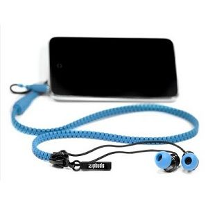 Tangle Free Zip-Up Earbuds - Avoid constantly tangled earbuds wires with these zip-up style earbuds/headphones. These zipup style earbuds are great to take to the gym where more traditional loose hanging earbud wires often get caught in workout equipment.
