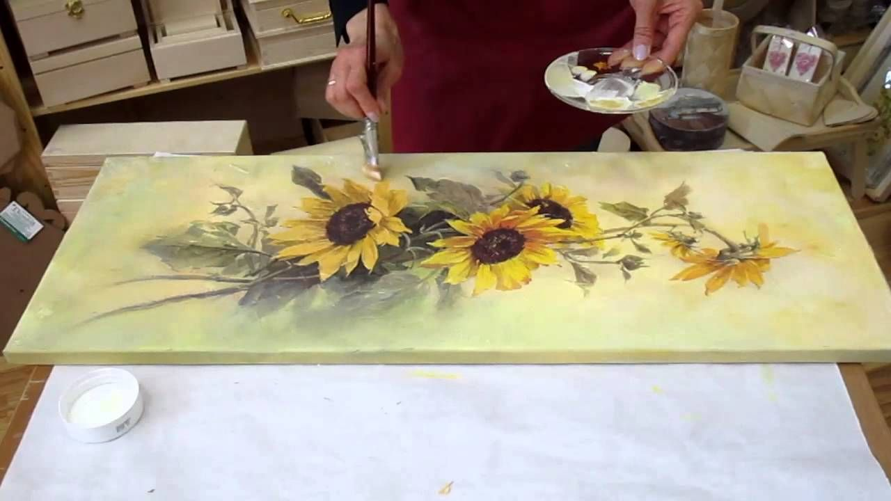 Decoupage tutorial , DIY. Decoupage on canvas. How to make