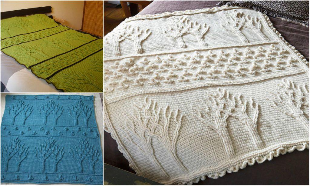 Easy] Stunning Tree of Life Crochet Afghan