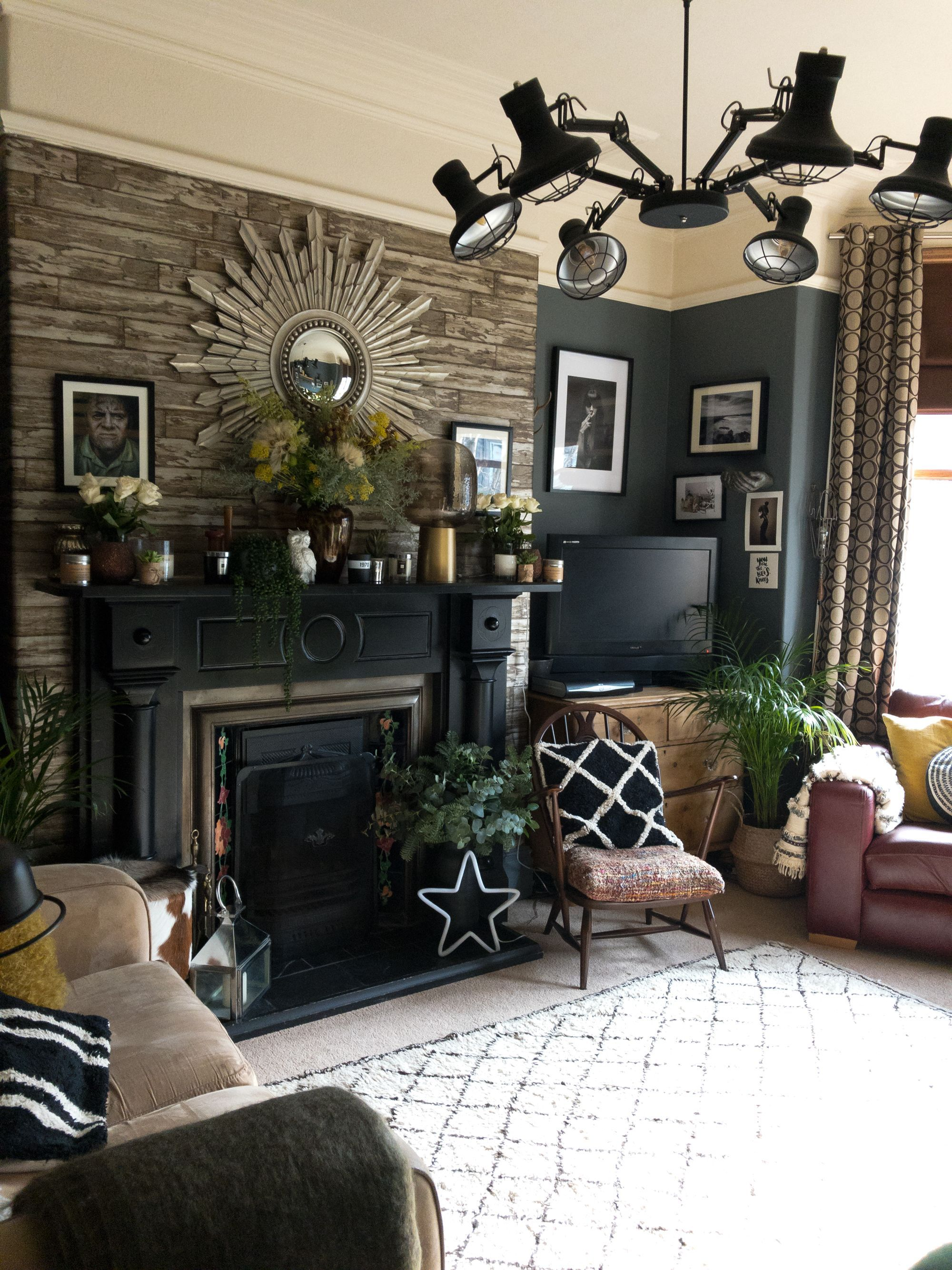A Dark Moody Vintage Filled Victorian In The Uk Modern Farmhouse Living Room Farm House Living Room Living Room Decor