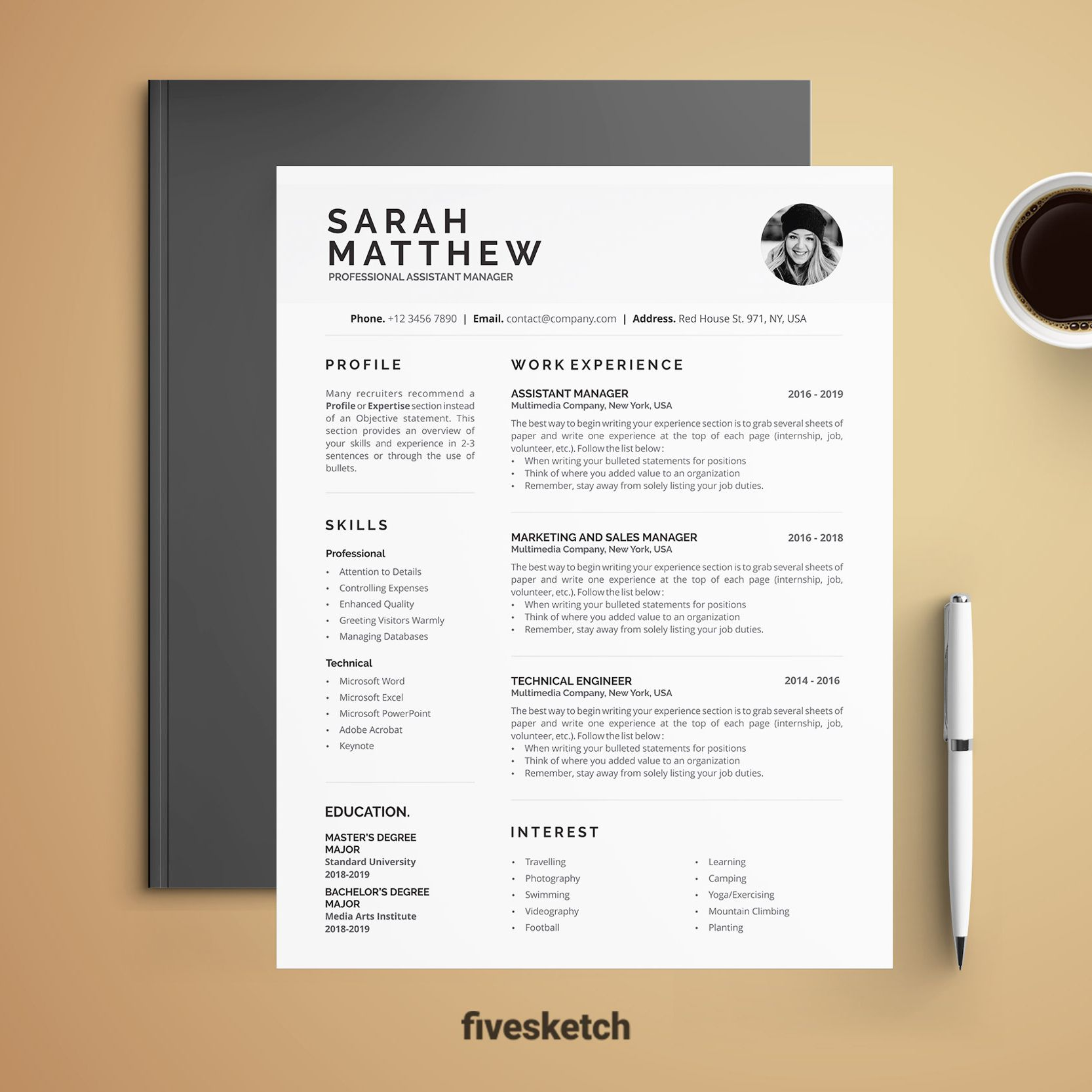 Resume Template + Cover Letter professionally designed to ...