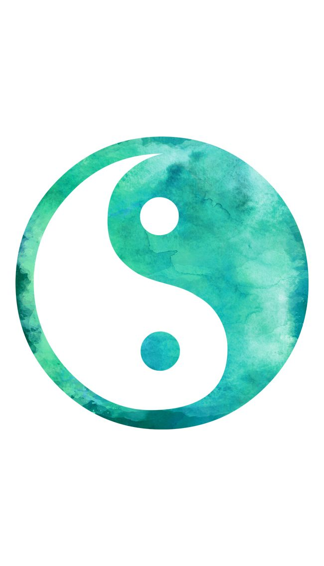 Yin Yang ★ Find more watercolor #iPhone + #Android #Wallpapers at ...