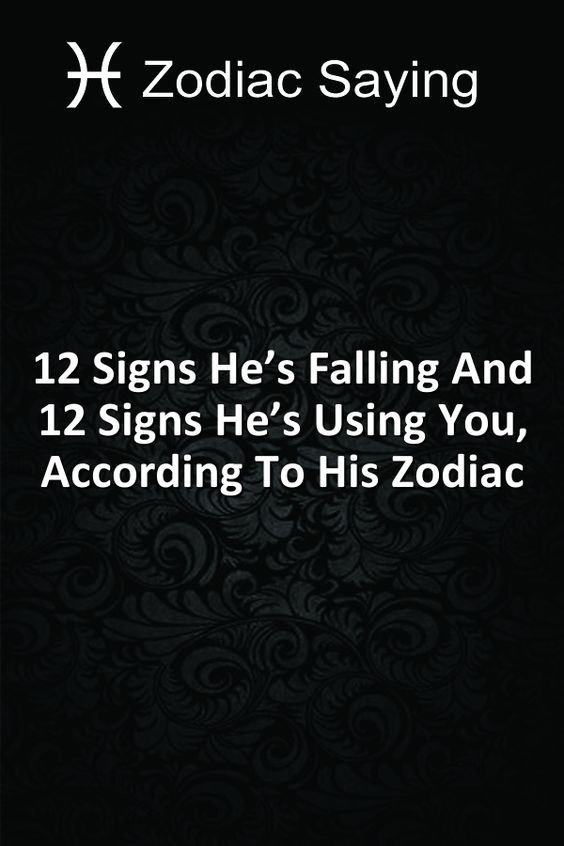 signs hes using you