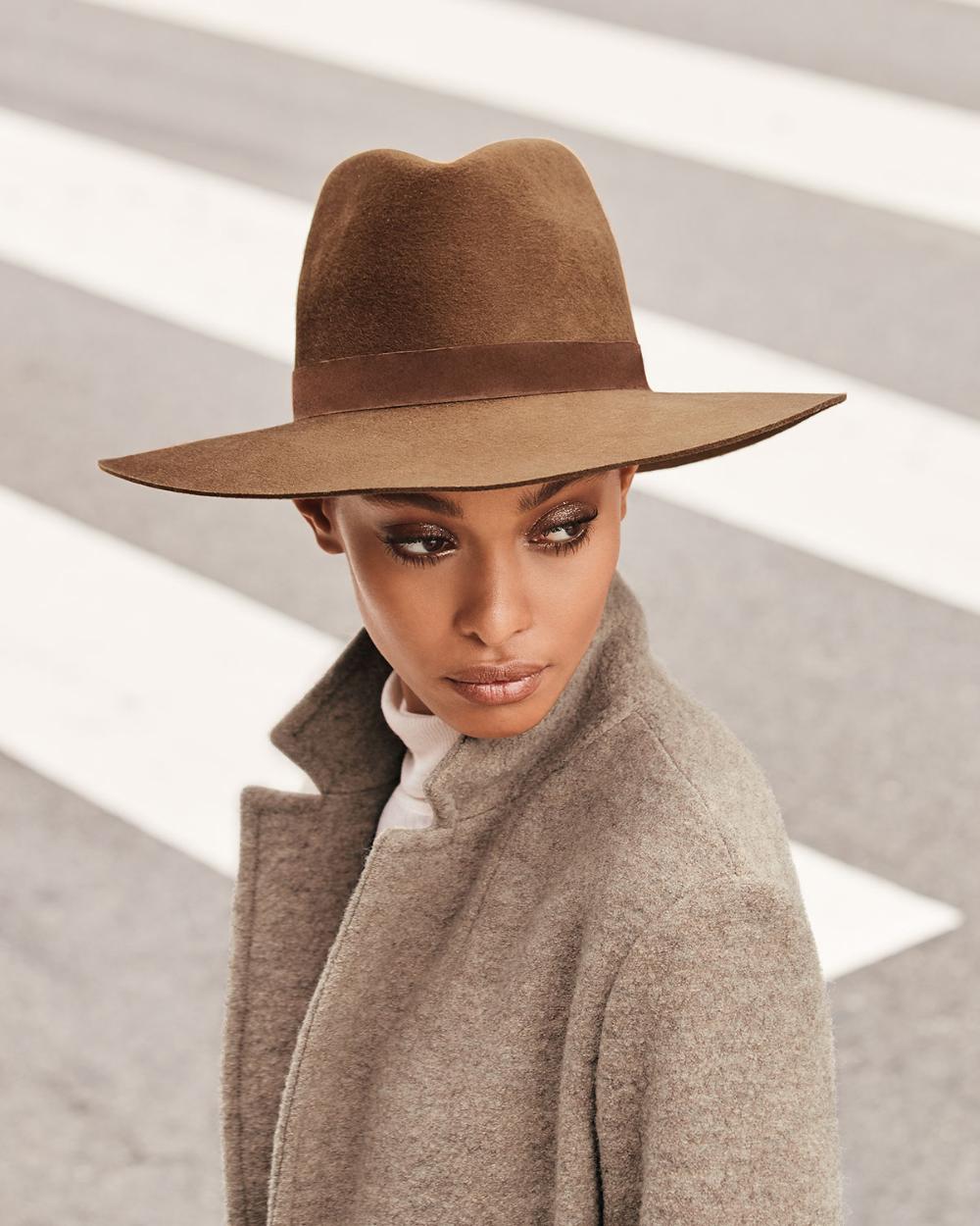 Janessa Leone Harper Wool Fedora Hat Fedora Hat Outfits Fedora Hat Outfit Fall Wool Fedora Hat