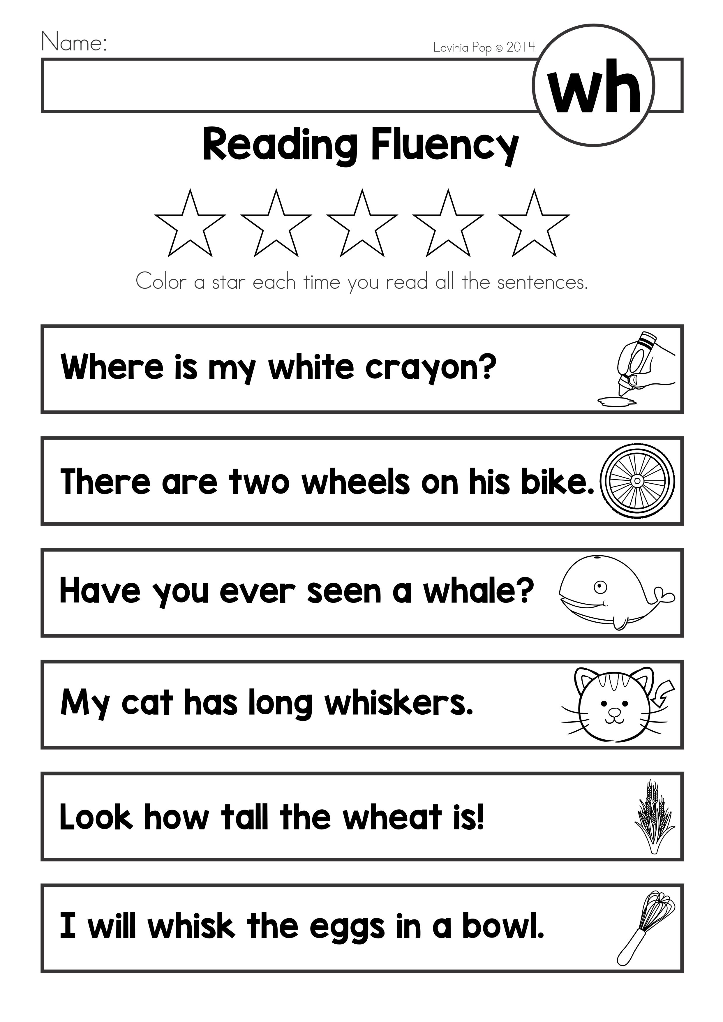 Free Digraph Wh Phonics Word Work Multiple Phonograms Reading Fluency Page Phonics Words Kindergarten Math Worksheets Free Kindergarten Worksheets