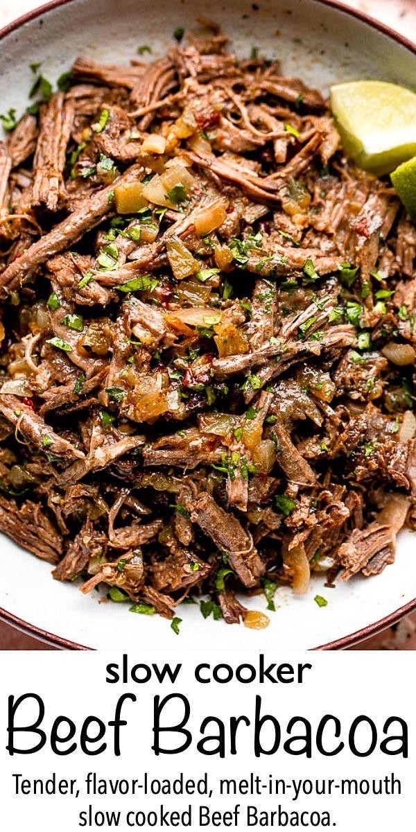 Slow Cooker Beef Barbacoa Recipe - Easy Mexican Recipe!