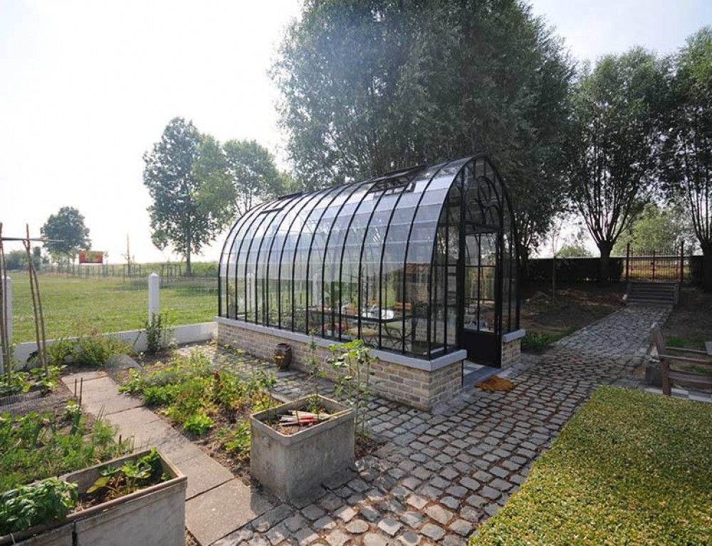 Steel Base Conservatory With Retro Look And Curved Roof Diy Kit Available Tuin