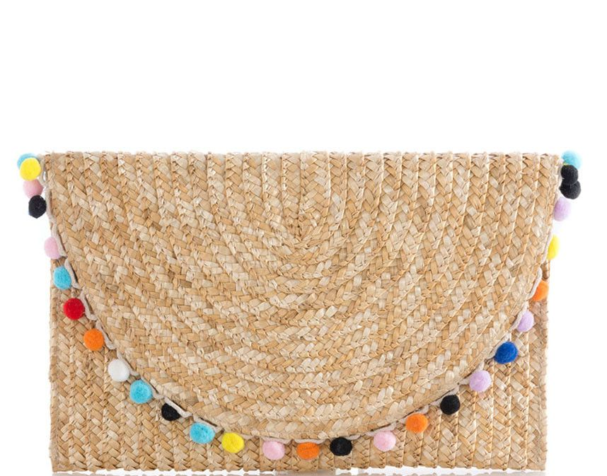Carmelita Tan Pom Pom Clutch | Finely Lane | $36 | Click link to ...