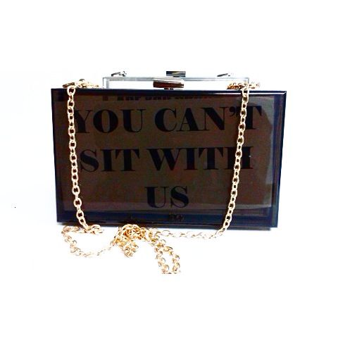 You can't sit with us mini purse