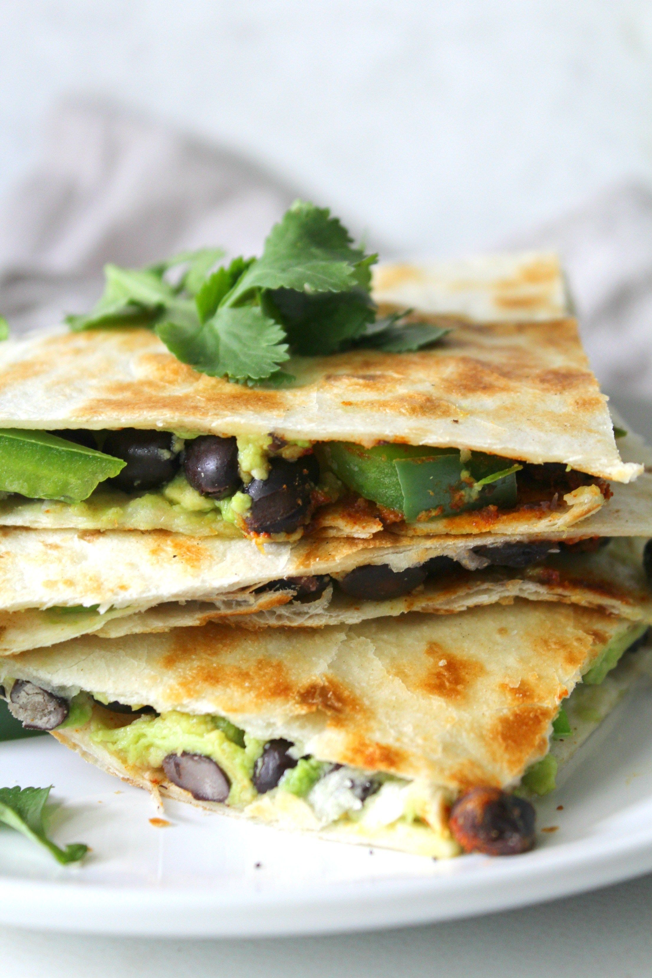 Avocado Black Bean Quesadillas Recipe Vegan Dinners Vegetarian Quesadilla Food Recipes