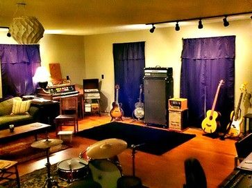 Man Cave Ideas Music : Garage shop turned into a music focused man cave that freddie