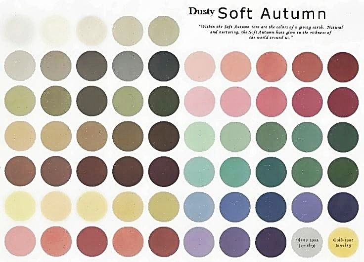 Dusty Soft Autumn : Only dirty gray warm soft colors