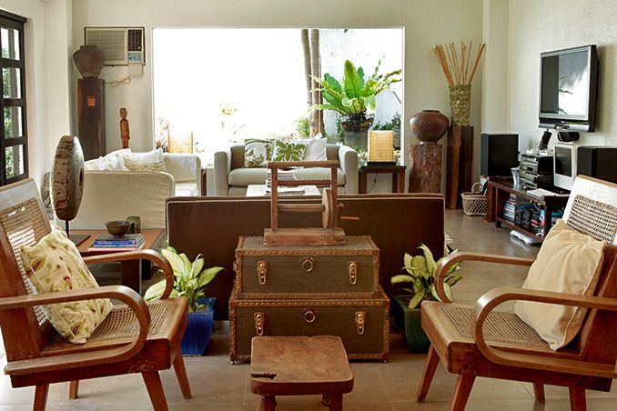 a filipino inspired duplex with antiques and wooden pieces balay rh pinterest com