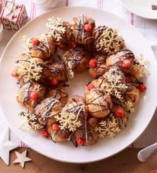 Mary S Christmas Choux Wreath Recipe Recipe Holiday Recipes Food Recipes