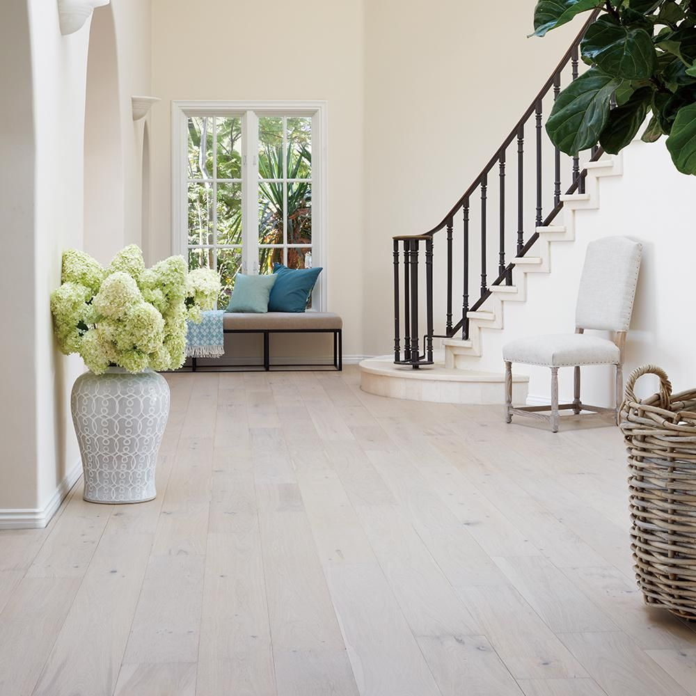 Malibu Wide Plank French Oak Rincon 3 8 in  Thick x 6 1 2 in  Wide x     Malibu Wide Plank French Oak Rincon 3 8 in  Thick x 6 1 2 in  Wide x  Varying Length Engineered Click Hardwood Flooring  23 64 sq ft  case