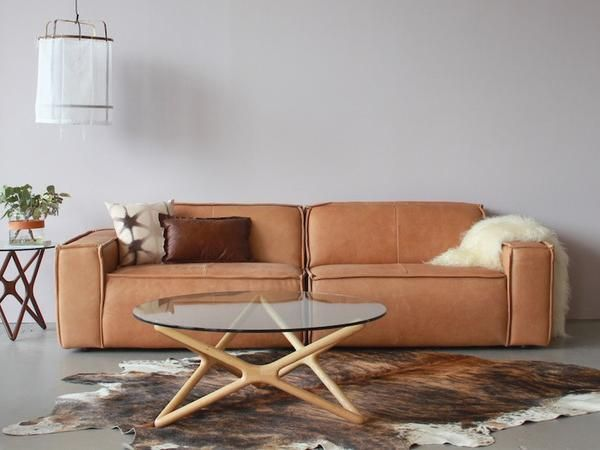 Edge 3 Seater Leather Sofa By Fest Amsterdam