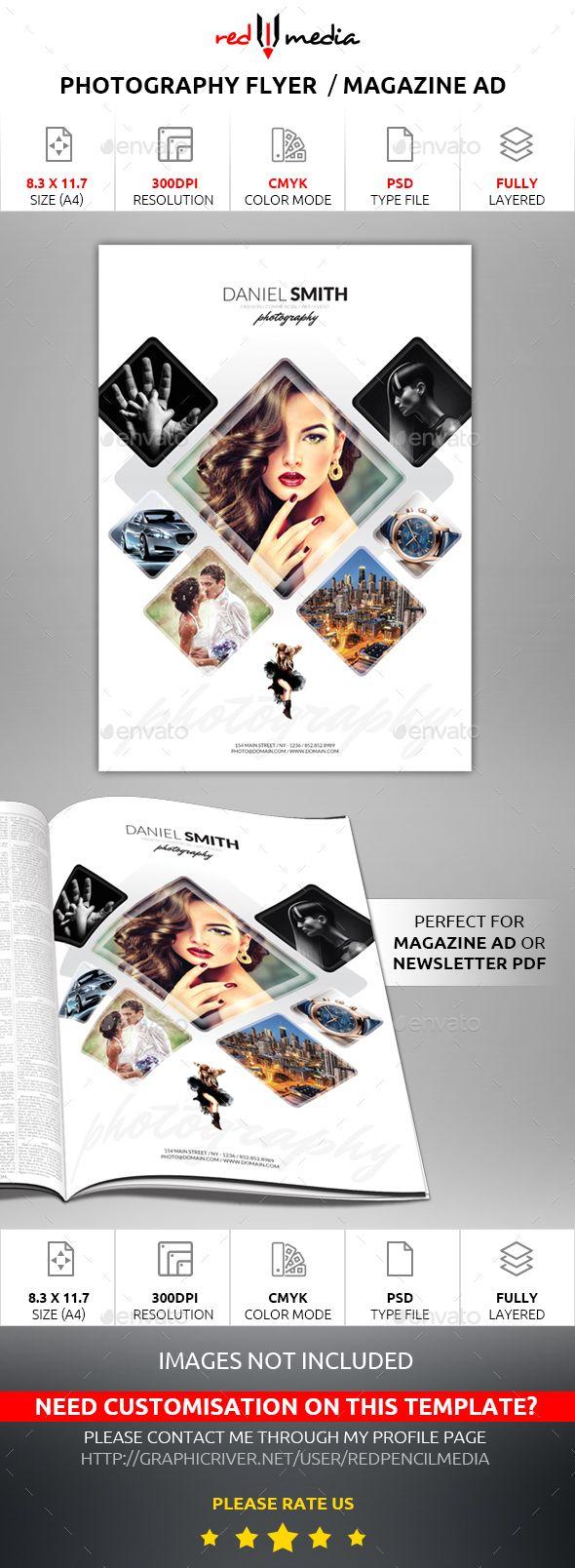 Photography Flyer / Magazine AD | Photography flyer, Flyer printing ...