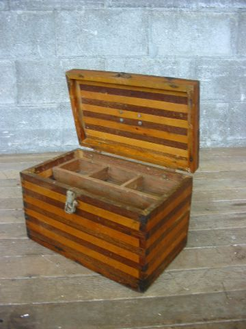 Vintage Wooden Tackle Box Second Use Seattle Building Materials