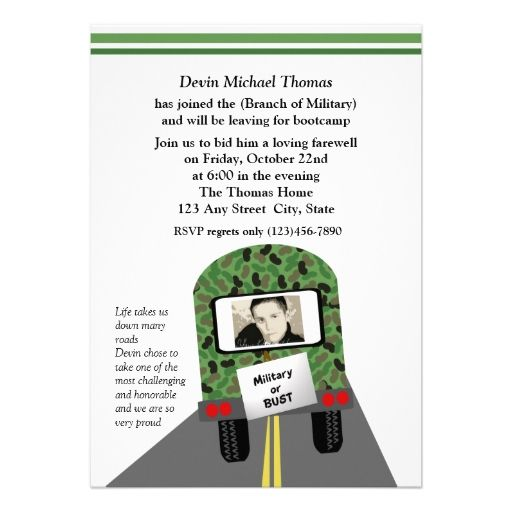 Military Going Away Party Invitations  Army    Party