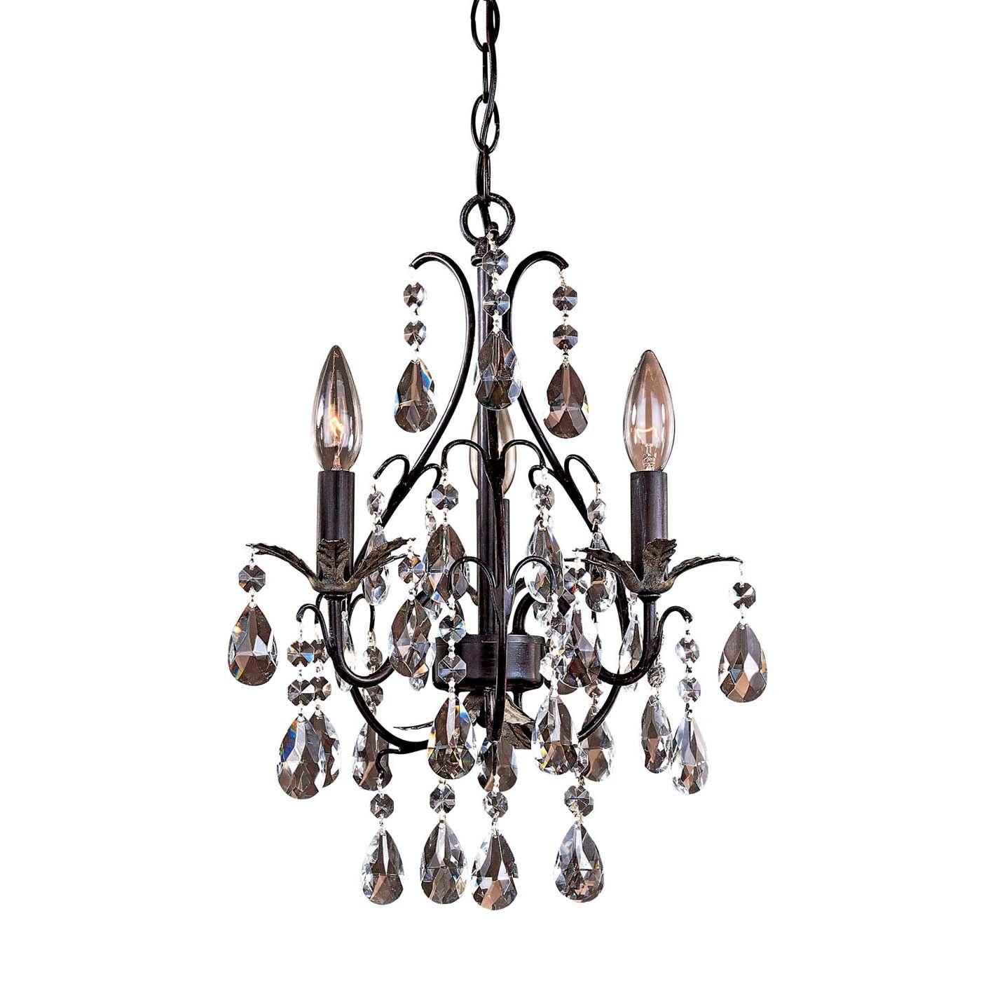 Minka lavery light mini chandelier castlewood walnut