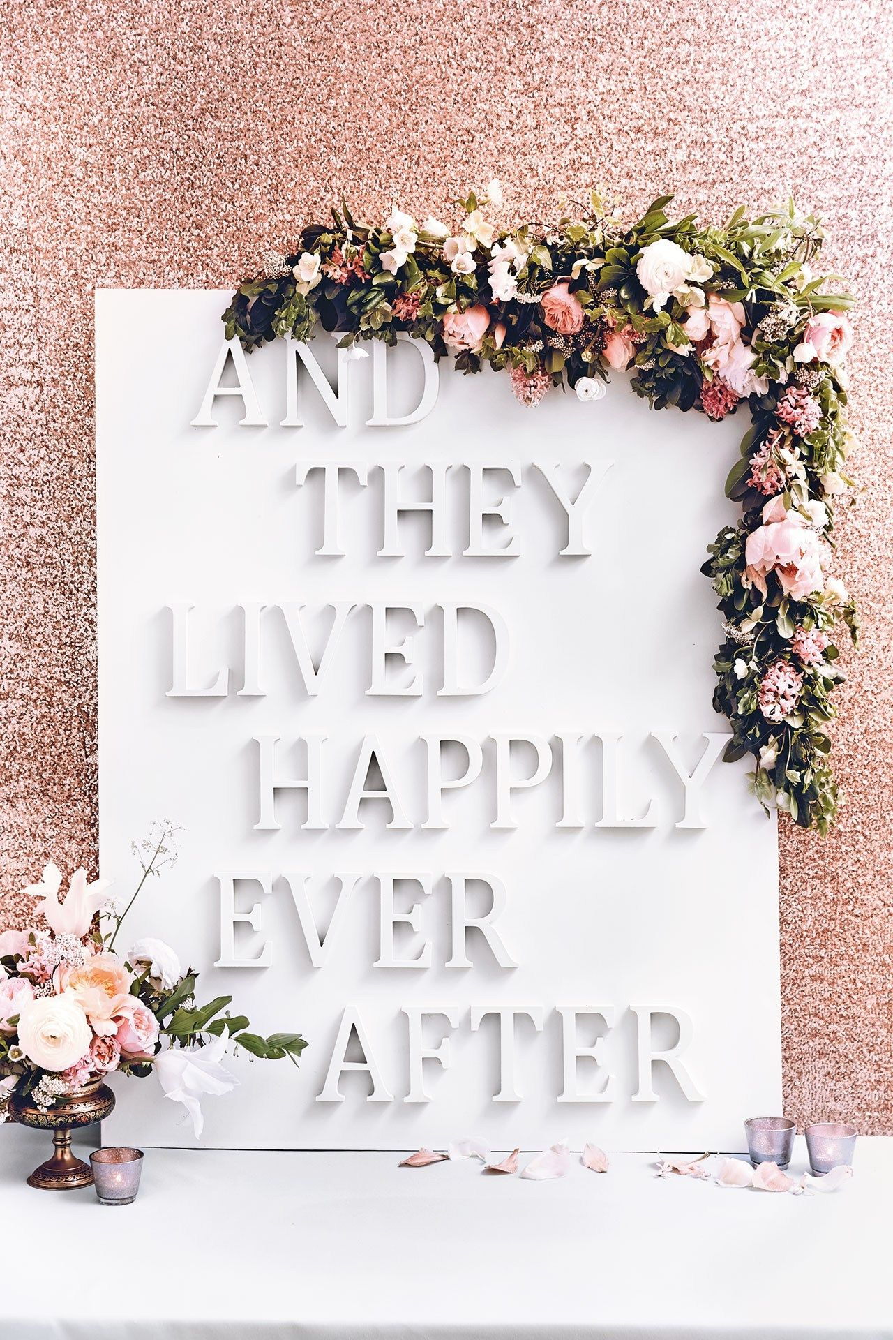 Wedding decorations at home  DIY Wedding Reception Sign Photo Backdrop BridesMagazine